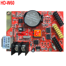 HD-W60 1*HUB08 2*HUB12 512*32 USB+WIFI LED display control card Single & Dual Color LED control system HD W60 5pcs/lot(China)