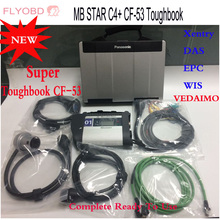I5 CF-53 Laptop + MB STAR C4 SD Ccompact 4  wifi Diagnosis Tool + V2017.03 Newest Software Das MB Star C4 Full Set Ready To Use