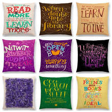 Colorful Decorative Letters Meaningful Saying Gorgeous Words Books Love Dream Short Sentences Cushion Cover Sofa Pillow Case