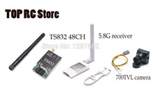 Mini 5.8G FPV Receiver UVC Video Downlink OTG VR Android Phone + TS832 5.8G 600mW 48 Channels Wireless Transmitter Module