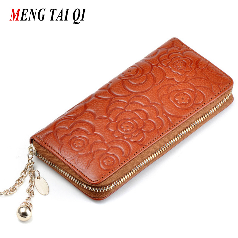 Leather wallet women luxury brand credit card holder long coin purses flower designer clutch brand vintage 2017 high quality 5<br><br>Aliexpress