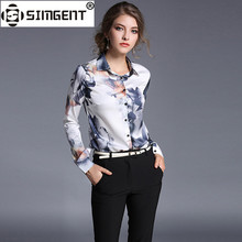 Buy Simgent Elegant Tops 2018 Spring Long Sleeve Turn Collar Floral Print Office Casual Women's Blouses Shirts Tops SG8153 for $19.94 in AliExpress store