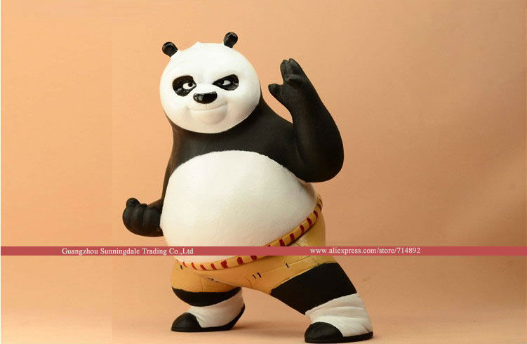 Free shipping Anime Kung Fu Panda action figure Po piggy bank PVC figure 20cm height cute styling toys<br><br>Aliexpress
