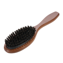 Anti-static Hairbrush Massage Comb Hair Scalp Paddle Brush Natural Boar Bristle Beech Wooden Handle Hair Brush Styling Tool