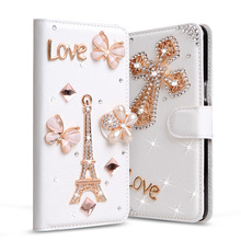 "Glitter Rhinestone cases For Asus Zenfone 3 Max Case ZC520TL 5.2"" Diamond Flip Wallet PU Leather Cover Card Slot Stand Phone bag(China)"