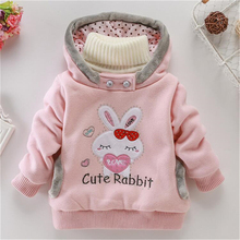 2017 NEW Baby Girl Winter Warm Wool Blend Snowsuit Hello kitty Coat Kids Hooded Windbreaker for Girls Hoodies Children's Sweater