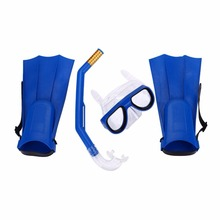 Children Kids Swimming Kit Diving Mask Breathing Tube Fins Water Sports Diving Rubber Security Swimming Glasses