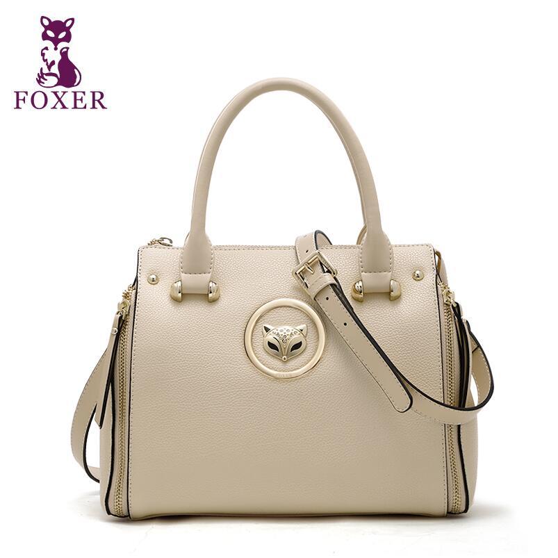 FOXER brand women bag 2016 new leather bag fashion women leather handbags shoulder messenger quality cowhide bag<br><br>Aliexpress