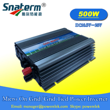 Free shipping!!500W On-grid Solar Micro Power Inverter DC 10.5-28V AC 220V AC110V grid tie inverter suit for 18V solar panels