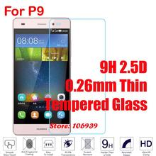 Cheap Best 9H Hardness Hard 2.5D 0.26mm Phone LCD Display Accessories Tempered Temper Glass Cristal Verre For Huawei P9 EVA-L09