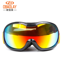 OBAOLAY Brand Professional Ski Goggles Double Lens UV400 Anti-fog Adult Snowboard Goggles Skiing Glasses Women Men Snow Eyewear(China)