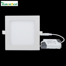 Dimmable 3W 6W 9W 12W 15W 18W Square LED Recessed Lamp Ceiling Panel Down Light Downlight Cold White Warm White AC85-265V