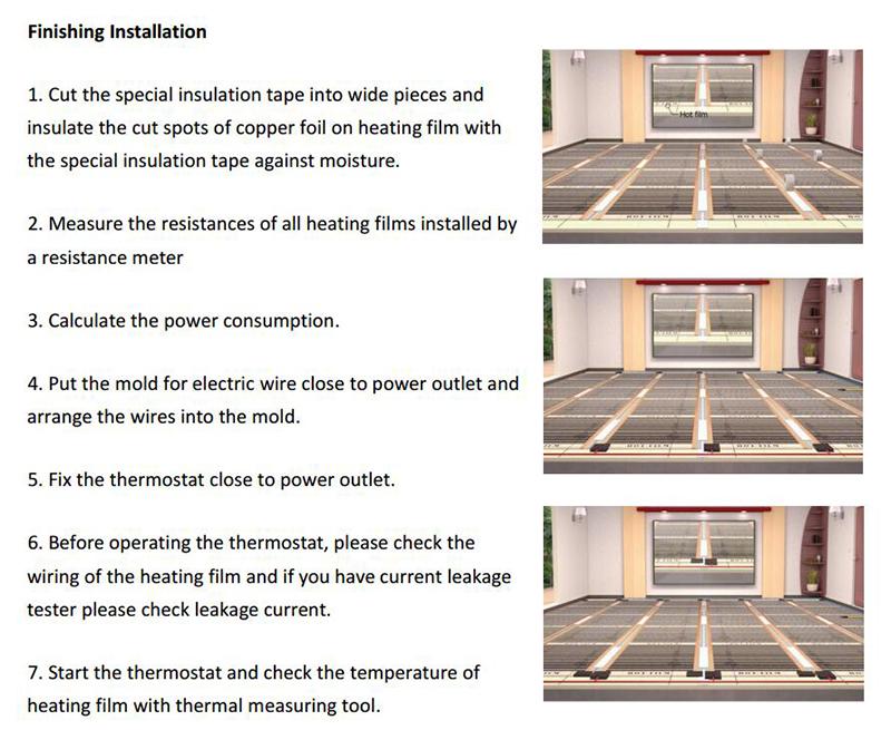 carbon heating film installation-3