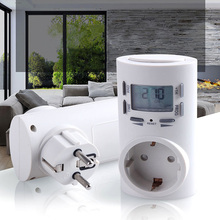 UK/US/EU/AU Plug Electronic Programmable Time Switch 24 Hours AC Digital LCD Timer Domestic Socket Adapter For Air Conditioner