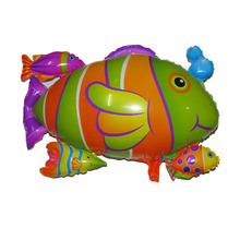 67x54cm party mylar balloons fish toys animal shaped baloon children birthday party decoration supplies fish balloon(China)