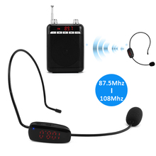 Hot Selling! High Quality Radio FM Wireless Headset Microphone Handsfree Megaphone Mic for Speaker Teacher