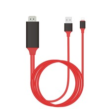 2M HDMI Cable for Iphone 5/6/6S/6 Plus/7/7plus to 1080P HDMI HDTV Adapter Plug& Play(China)