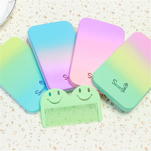 Beauty Makeup Mirror With Comb Portable Color Rainbow Cosmetic Compact Mirrors Makeup Accessories Tools P2