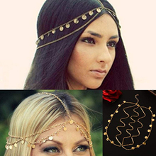 New Arrival Women's Bohemian Circle Sequin Decor Multi-Layer Head Chain Head Piece Jewelry