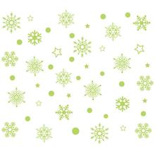 Christmass Snowflake Luminous Removable Wall Window Stickers Art Decals Home Shop Decor 2O922