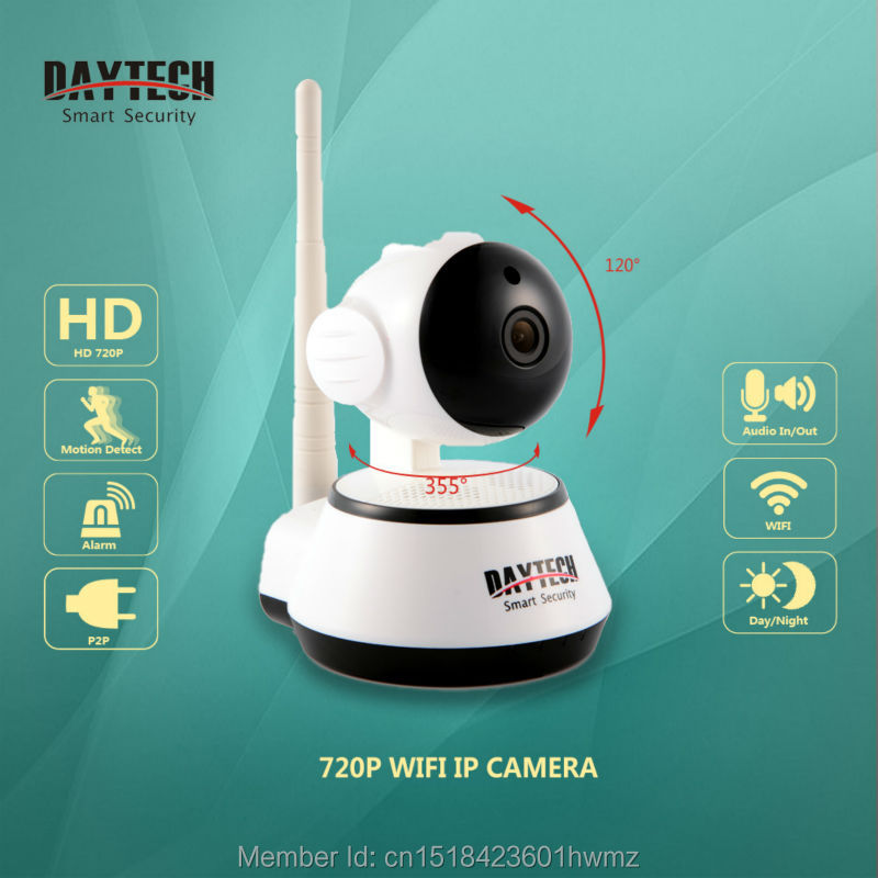 Daytech WiFi IP Camera 720P HD Wireless Security Camera CCTV Baby Monitor Two Way Audio Night Vision P2P Infrared DT-C8815A<br><br>Aliexpress