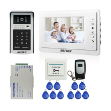 "MILEVIEW Wired 7"" Video Door Phone Doorbell Intercom Entry System + Outdoor IR RFID Code Keypad Camera + Remote FREE SHIPPING"