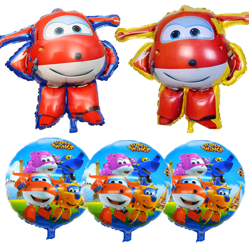 Super Wings Jett Foil balloons Kids Toy Gift Party Decoration Kids toys