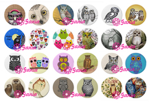 24pcs/lot Interchangeable 18mm Snap Jewelry Cabochon Glass Button Vintage Owl Button for Bracelet Necklace Ring Earring Bijoux
