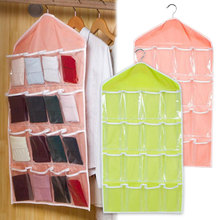 Multifunction 16 Pockets Clear Over Door Hanging Shoe Hanger Storage Bag Socks Underwear Organizer Chest Useful(China)