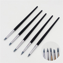 5 Pcs Nail Art Pen Brushes Soft Silicone Clay Carving Craft Supplies Pottery Sculpture UV Gel Building Clay Pencil DIY Tools(China)