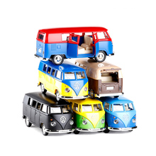 RMZ city 1:36 VW T1Transporter Bus Toy Vehicles Alloy Pull Back Mini Car Replica Authorized By The Original Factory Model Kids(China)