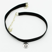 Korea POP Group GOT7 Letter 7 Logo Leather Titanium Steel Pendant Choker Necklace Women Men Jewelry Collares B651