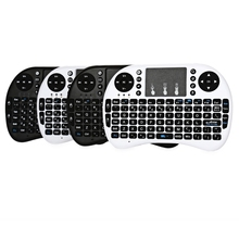 iPazzPort 2.4GHz Wireless Russian/English Version Handheld Qwerty Keyboard Touchpad Mouse for Smart TV Box/Raspberry Pi/HT(China)