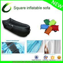 2017 trend popular factory ultralight portable ripstop nylon air couch with banana square design