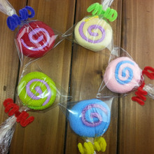 Hot Sale 1 Pc Color Random Practical Gifts Wedding Birthday Gift Little Lollipop Towel Toallas Handkerchief