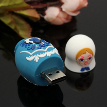 USB 2.0 64GB USB Flash Drive Memory Stick Storage Device U Disk Matryoshka Small Cute Doll Russian Style For PC Tablet Computers