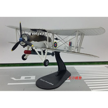 Aviation World War II British Swordfish Torpedo Attack Plane 1/72 Scale Diecast Finished Alloy Model Toy For Collect Gift