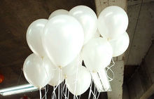 100pcs/Lot 10 Inch 1.5g White Latex Balloons Helium Party Wedding Birthday Party Balloon Globos Balony Free Shipping