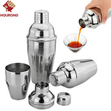 1Pcs 550ml Stainless Steel Cocktail Shaker Cocktail Mixer Wine Martini Drinking Boston Style Shaker For Party Bar Tool(China)