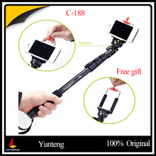YUNTENG C-188 High Quality Portable Extendable Stick Pole Handheld Monopod Tripod For Gopro & Cameras & Cell Phones with Holder(China)