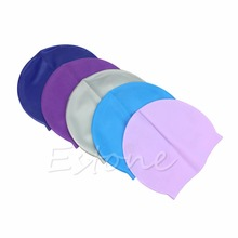 New Adult Sports Silicone Swim Cap Flexible Durable Elasticity Swimming Hat