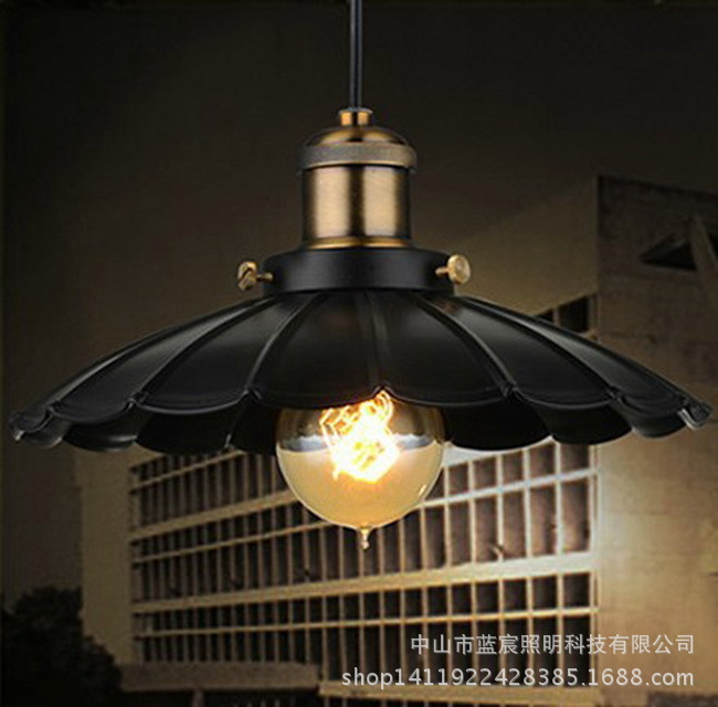 European Antique Iron Industrial Vintage Pendant Lighting for Loft and  Dining Room  Size D25CM<br><br>Aliexpress