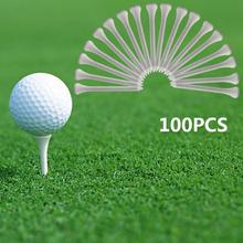 100Pcs Golf Tees 70mm Wood Golf Holders Club Training Nail Seat Driving Range Mat Outdoor Sports