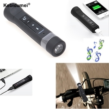 NEW Bluetooth Speaker USB Rechargeable Bicycle Bright 2200mAh LED Flashlight Music Player bike Cycling Light With Power Bank(China)