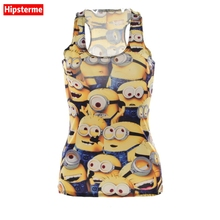 Buy Hipsterme Summer Sexy tank top workout Minions digital print sleeveless tops Girl singlet Women camisolas for $4.94 in AliExpress store