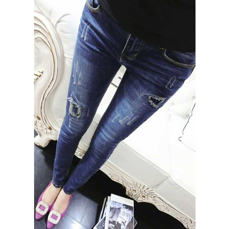2016 New Arrival Full Length Zipper Fly Low Softener Skinny Pencil Pants Jeans Women Tight Jeans Denim FemmeОдежда и ак�е��уары<br><br><br>Aliexpress