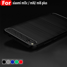 For xiaomi Mi6 / Mi6 Plus Case Luxury Carbon Fiber Drawing Pattern Back Cover For Xiaomi Mi5c TPU Ultra-thin Phone Coque Fundas