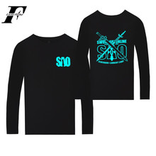 LUCKYFRIDAYF New Novelty Sword Art Online fitness t Shirt Spring Long Sleeve T-shirt men/women Anime Plus Size camisa masculina(China)