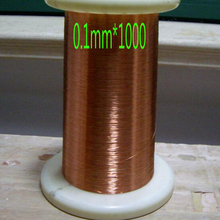 Specifications: Diameter 0.1mm *1000 m /pc QA-1-155 Magnet Wire Enameled Copper wire Magnetic Coil Winding Free shipping