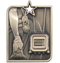 High quality and low price Star Medal Running  ENGRAVING With Ribbon cheap custom sports medals hot sales metal medals custom